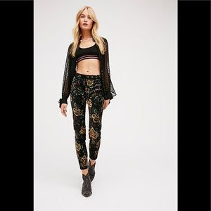 Free People Lennon Skinny Pant Floral -2
